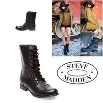 〓NYC発!〓STEVE MADDEN レースアップブーツ【TROOPA BLACK】