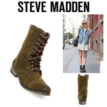 〓NYC発!〓STEVE MADDEN レースアップブーツ【TROOPA OLIVE】