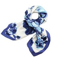 Tory Burch ROSEMONT FLORAL SILK NECKERCHIEF