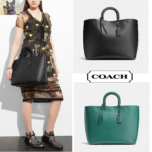 【COACH】ローグトート☆Embellished Handle In GloveCalf 2色