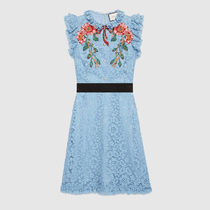 ☆2017-18AW新作☆GUCCI(グッチ)/Embroidered cluny lace dress