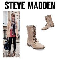 〓NYC発!〓STEVE MADDEN レースアップブーツ【TROOPA STONE】