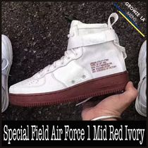 ★【NIKE】安心追跡 Special Field Air Force 1 Mid Red Ivory