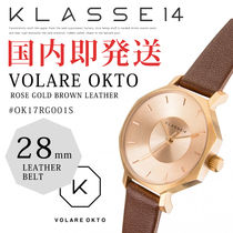 【KLASSE14】クラス#VOLARE OKTO 28mm LEATHER BELT 腕時計