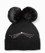 Kate Spade New York Knit Hat  キャット ニット 帽子