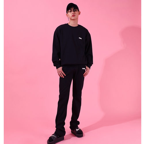 ★BASIC COTTON★正規品/日本未入荷[UNISEX] none pants (bk)