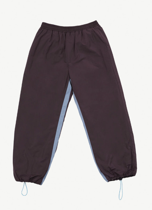 ☆87MM☆ [Mmlg] HEMLINE-STRING ATHLETIC PANTS (WINE) ☆