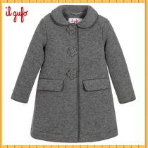 現地Sale!★ IL GUFO ★ Grey Wool Blend コート 2-14Y★関税込