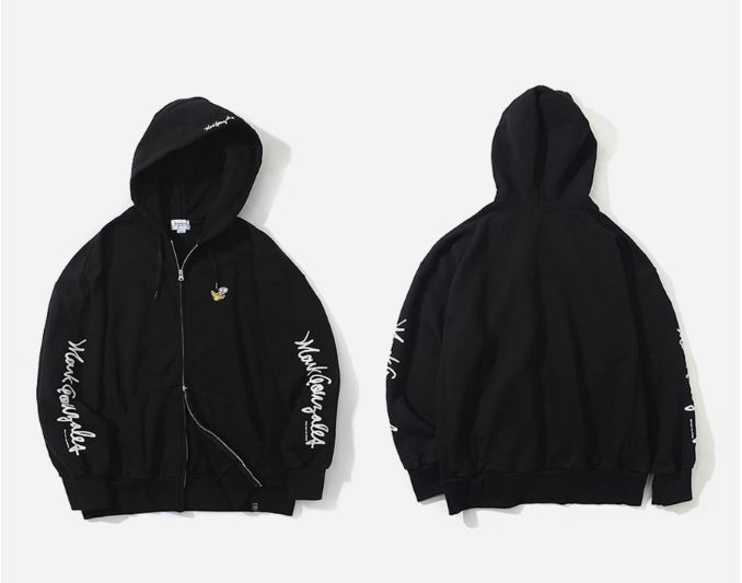 COVERNAT X MARK GONZALES GRAPHIC SLEEVELOGO HOODIE ZIP-UP