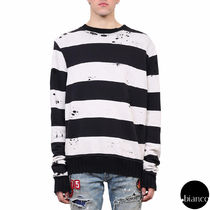 関税送料込AMIRI 2017AW SHOTGUN STRIPED COTTON SWEATSHIRT