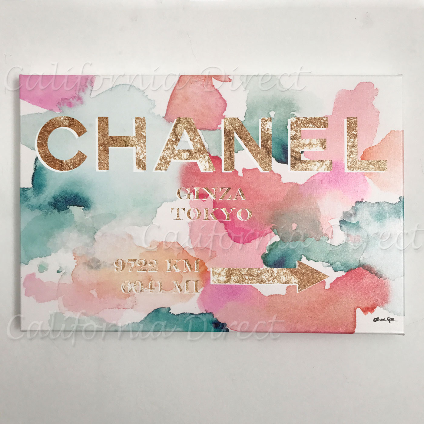 Oliver Gal 小さい 38x25cm Couture Road Sign Tokyo