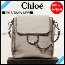 18New■CHLOE■Faye Small バックパック Motty Grey☆関税込