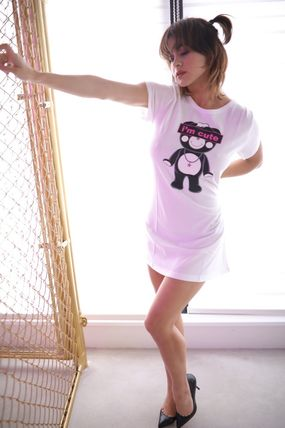 """Tシャツ・カットソー ★TANTA GIRLS★ ONE-PIECE """"I'm cute"""" CHAPPY T-SHIRT 即発(8)"""
