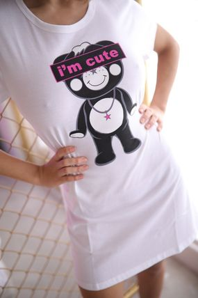 """Tシャツ・カットソー ★TANTA GIRLS★ ONE-PIECE """"I'm cute"""" CHAPPY T-SHIRT 即発(9)"""