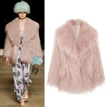 MM353 LOOK42 OVERSIZED FAUX FOX FUR COAT