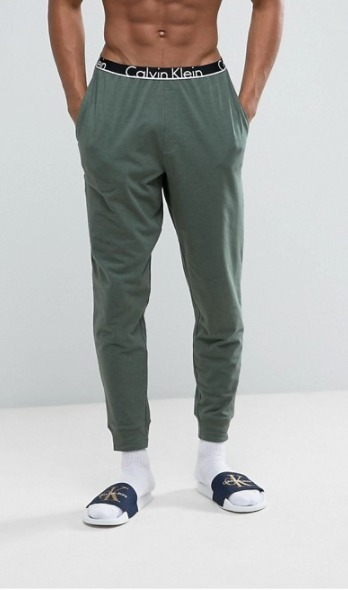Calvin Klein ID Joggers with Cuffed Ankle in Slim Fit♪