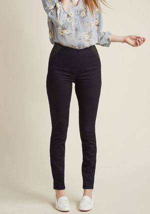 sleeks for itself pants in dark denim
