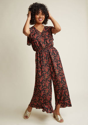 crafty afternoon floral jumpsuit