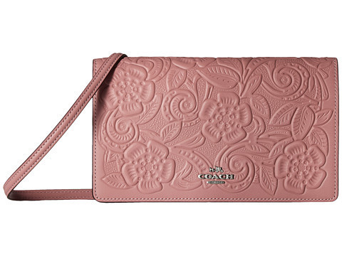 ★Coach★ Tea Rose Tooling Fold-Over バッグ 関税込★