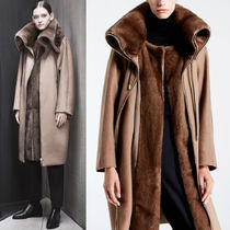17-18AW MAR011 LOOK7 PURE CASHMERE PARKA WITH MINK FUR TRIM