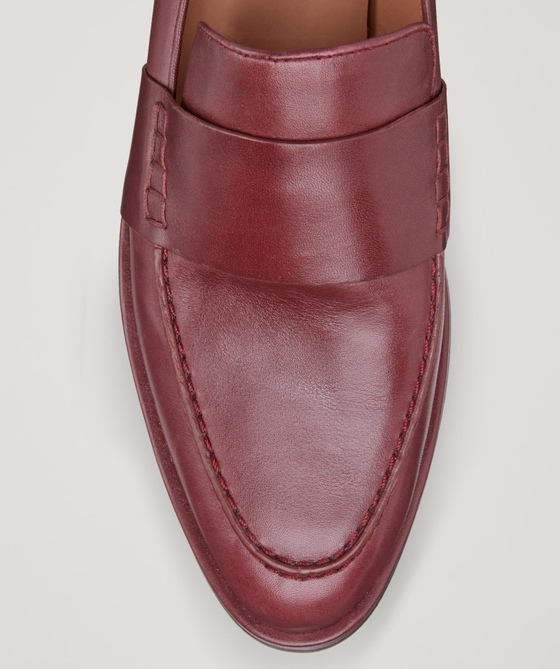 """""""COS""""CLASSIC LEATHER LOAFERS MAROON"""