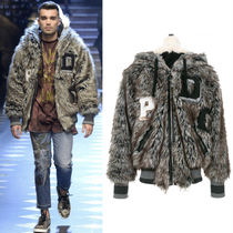 17-18AW DGM011 LOOK69 WOLF FAUX FUR JACKET