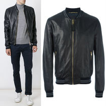 17-18AW DGM014 LEATHER BOMBER JACKET