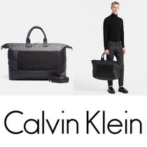 【送料無料】Calvin Klein LOGO PANEL WEEKENDER BAG 日本未入荷