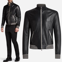 17-18AW DGM017 LAMB LEATHER BOMBER JACKET