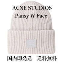 【即発】【国内発送】ACNE STUDIOS PANSY W FACE KNIT CAP GREY