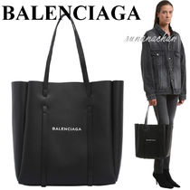 BALENCIAGA EVERYDAY LEATHER スモール トートバッグ BK☆