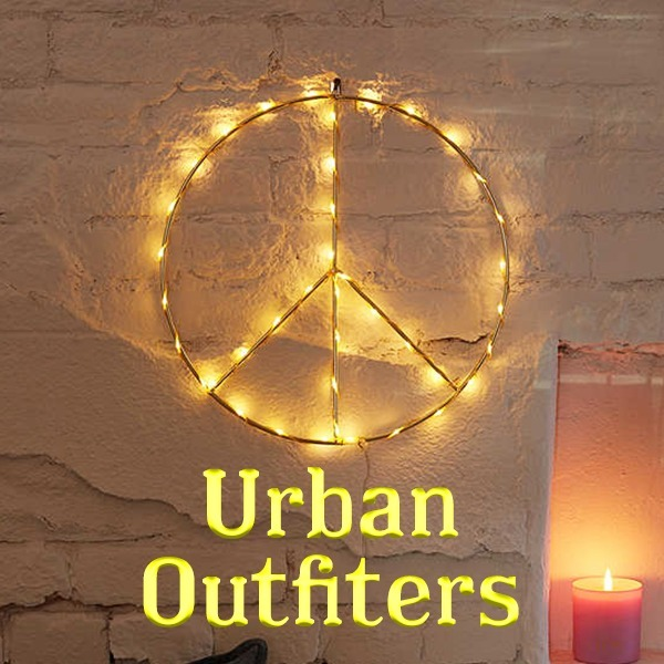 【Urban Outfitters】 PEACE sign ライトスカルプチャー