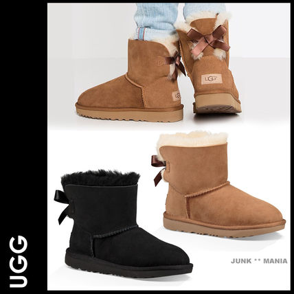 UGG キッズブーツ 大人も履ける★追跡付【UGG】撥水&防汚加工/MINI BAILEY BOW II