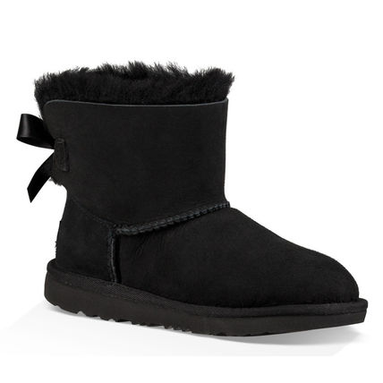 UGG キッズブーツ 大人も履ける★追跡付【UGG】撥水&防汚加工/MINI BAILEY BOW II(5)
