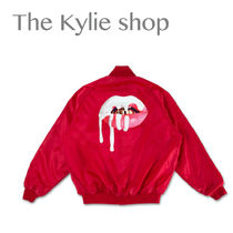 The Kylie shop / lips satin Bonner jacket - red