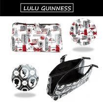 ◆Lulu Guinness◆ダブルメイクアップコスメ(化粧)ポーチ (追跡)
