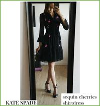 【Kate spade】チェリーがかわいい★sequin cherries shirtdress