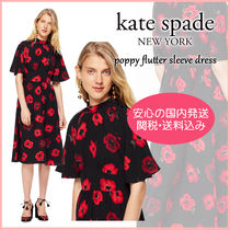 【国内発送】POPPY FLUTTER SLEEVE DRESS セール
