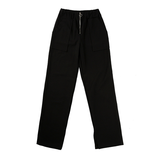 ★BASIC COTTON★正規品/日本未入荷/ none zipper pants(bk)