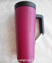 【限定】STARBUCKS-Stainless Steel w/Handle Tumbler-magenta