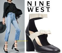 SALE【リボンが素敵】本革Nine West Dannellレザーパンプス