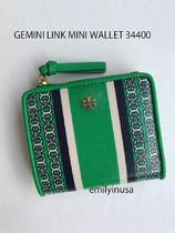 即発 TORY BURCH★GEMINI LINK MINI WALLET 34400*GREEN