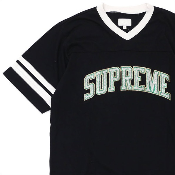 送料込み★Supreme Glitter Arc Football Top T-shirt