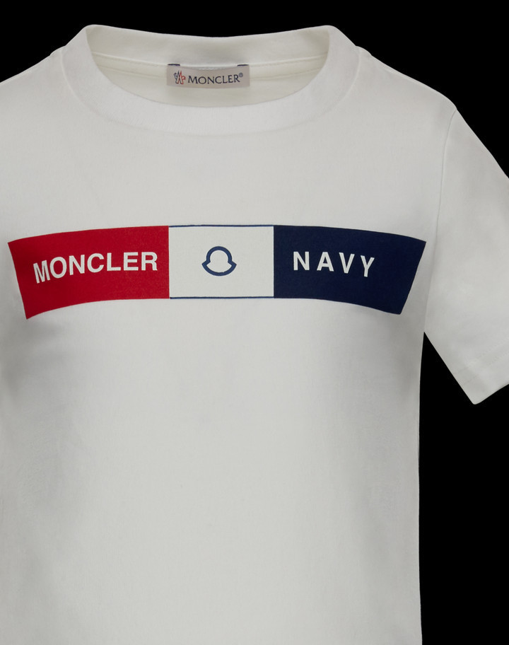 MONCLER2016/17秋冬新作キッズロゴ入りコットンTシャツ 4A/6A