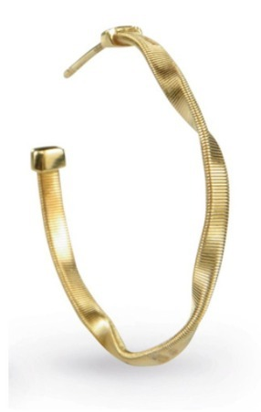 【Marco Bicego】18K Yellow Gold Hoop Earrings【国内発送】