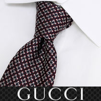 25 GUCCI グッチ 新品本物 総柄 SILK100% ネクタイ