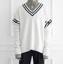 日本未入荷UL:KINのBUTTON SLEEVE V-NECK KNIT PULLOVER 全2色