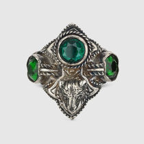 【GUCCI(グッチ)】リング Feline head ring with crystals