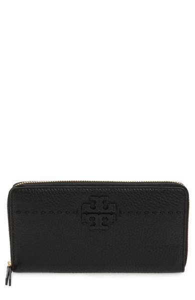 国内発送◆Tory Burch McGraw Leather Continental 長財布 2色