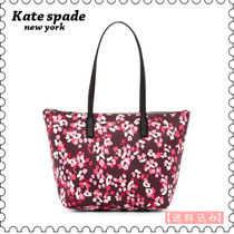 【kate spade】Nyssa Leather Trimmed トート PXRU7949★(正規)